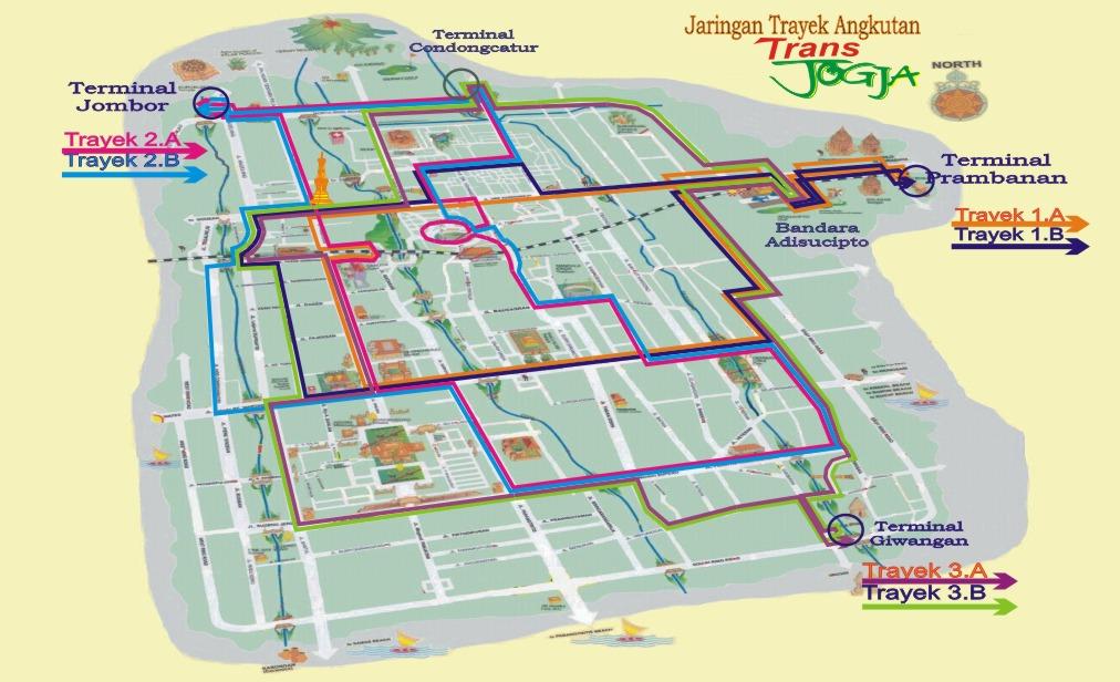 Peta Jaringan Trayek/Rute Bus Trans-Jogja | RizkiBeo the ...